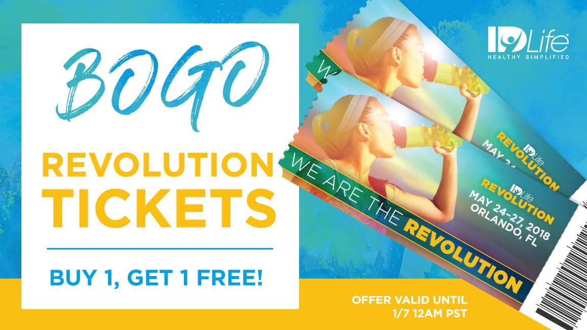BOGO Revolution Tickets 01/2018
