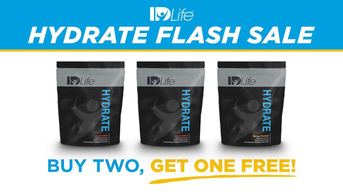 Flash Sale: Buy 2, Get 1 Hydrate 02/2018
