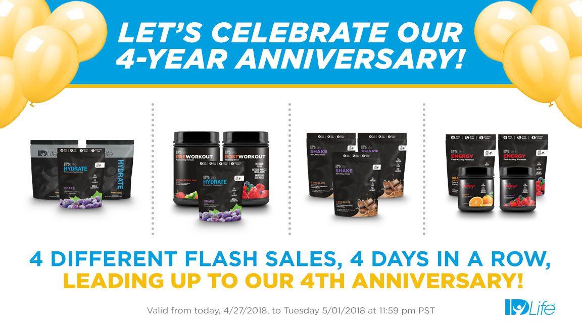 FLASH SALE: 4 Year Anniversary!