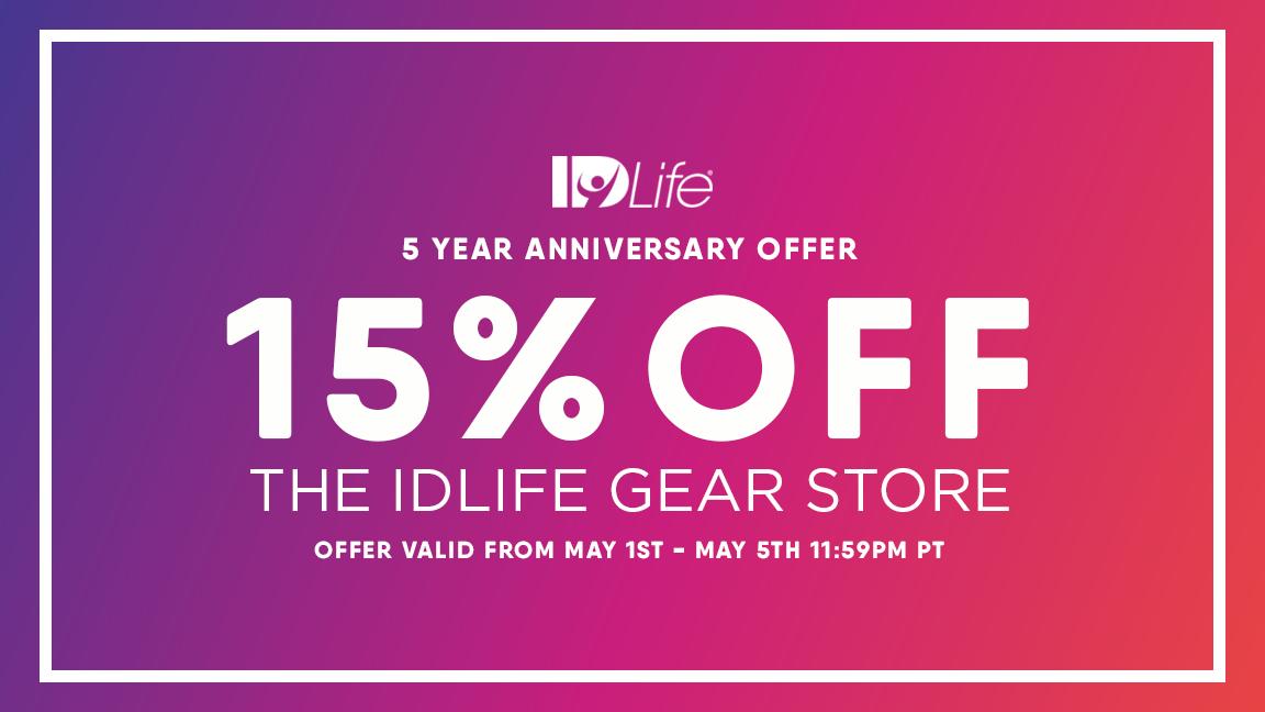 15% Off ALL IDLife Gear