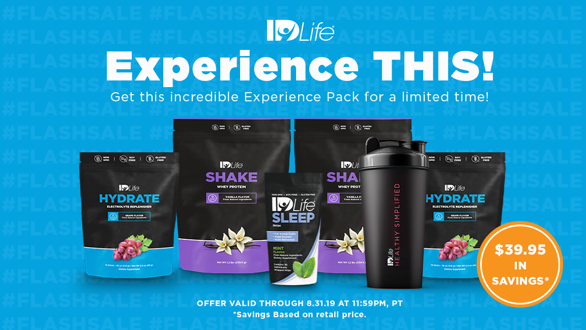 IDLife Experience Flash Sale starts NOW!