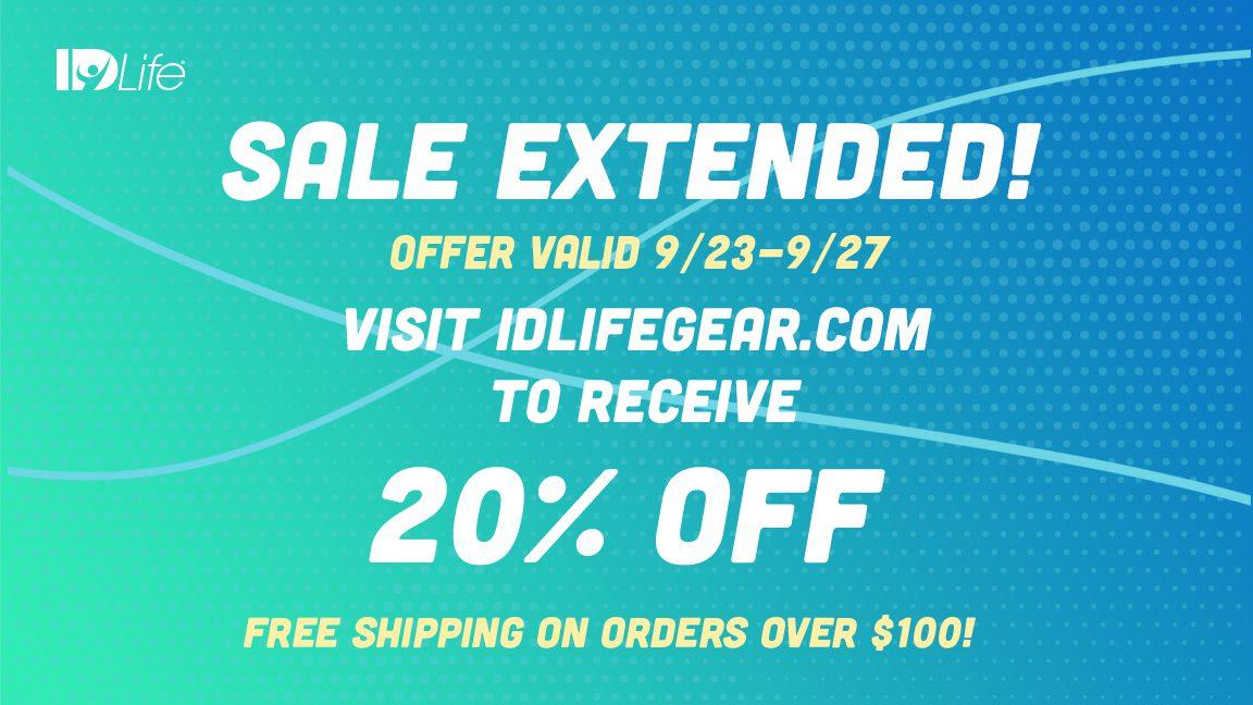 20% off IDLife Gear Store