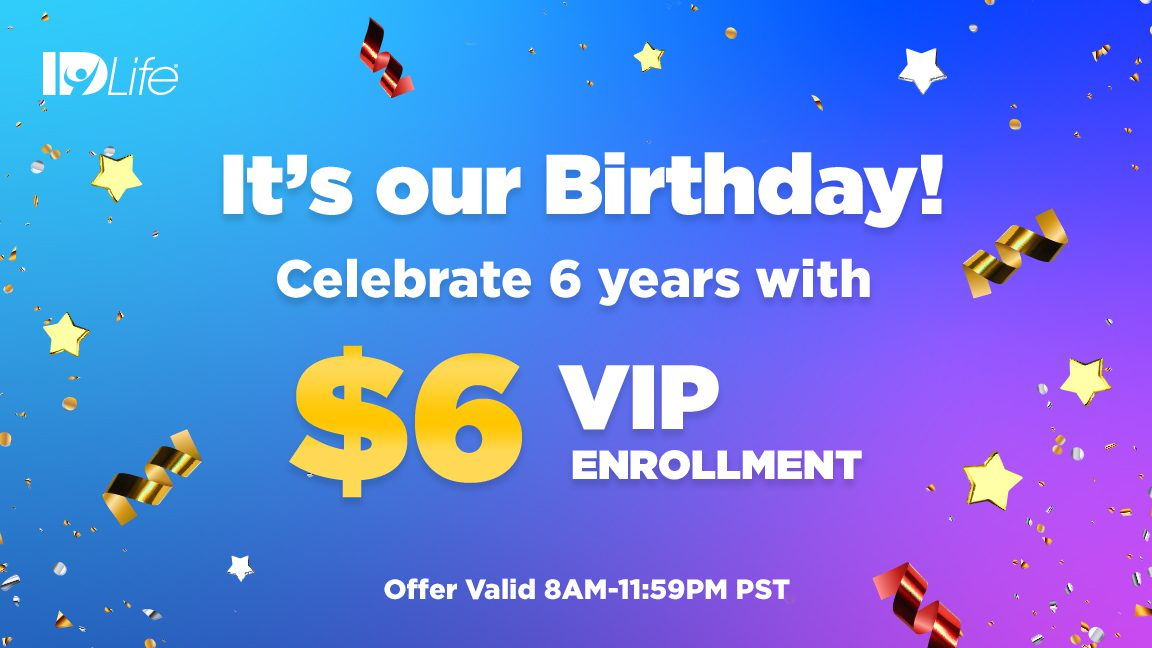 It's our Birthday! Celebrate 6 years with $6 VIP Activation Fee!!🎂