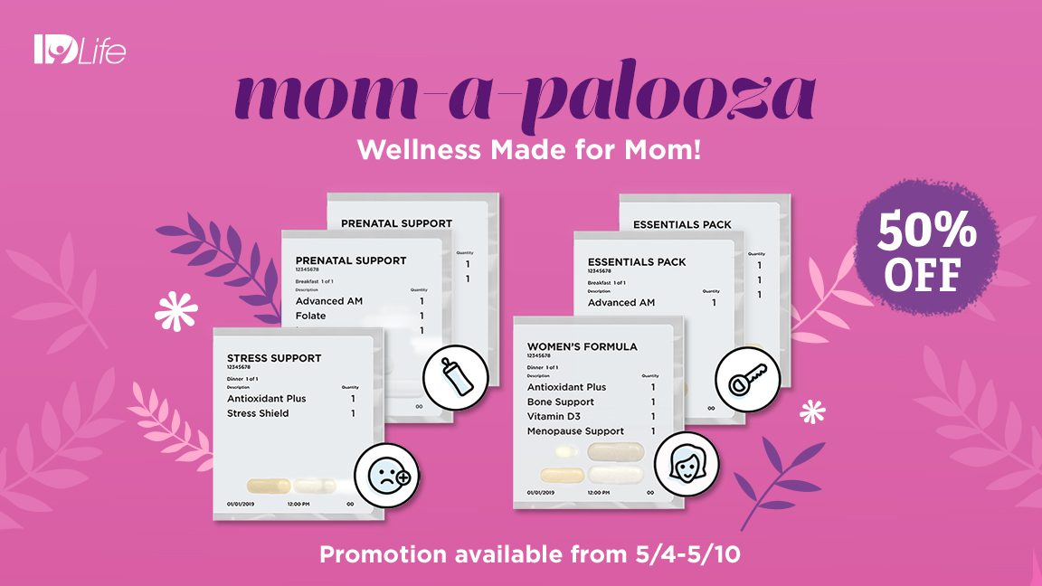 Shop Mom-A-Palooza with 50% OFF select Vitamin Packs!
