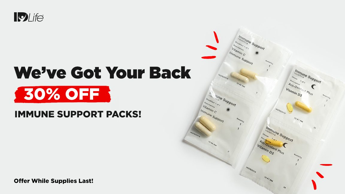 30% Off Immune Support Vitamin Packs!