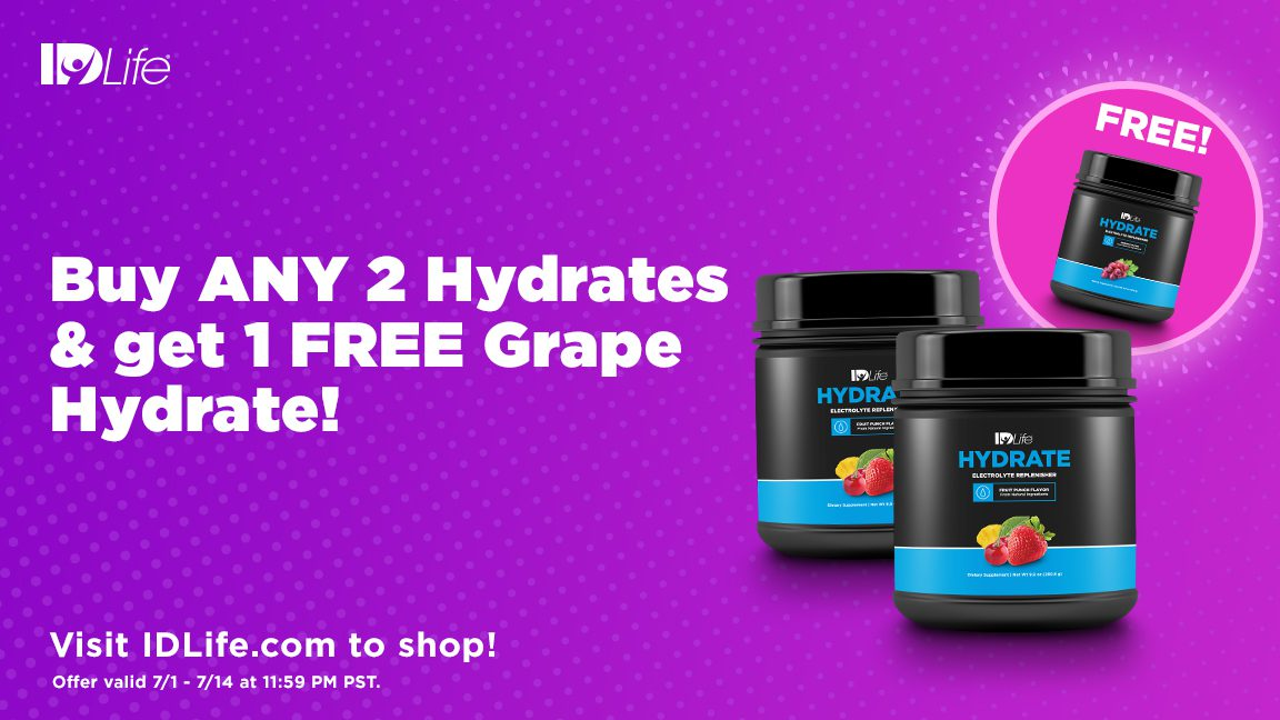Buy 2 Hydrates (Any Flavor) & Get 1 FREE Grape Hydrate!🍇