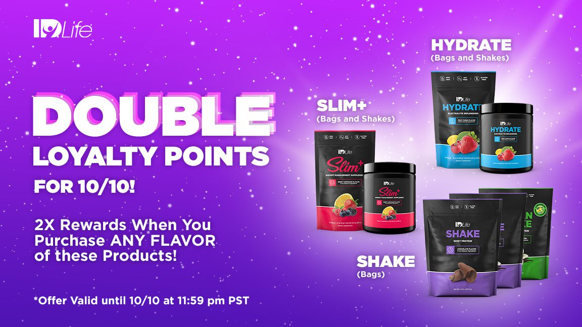 One Day Only! DOUBLE Loyalty Points